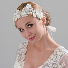 Ladies Nice Satin Headbands With Venetian Pearl (Sold in single piece)
