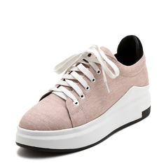 Women's Fabric With Lace-up Sneakers (247147854)