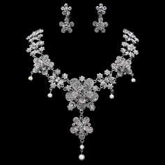 Unique Alloy/Rhinestones With Pearl Ladies' Jewelry Sets