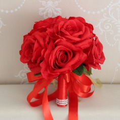 Hand-tied Silk Flower Bridal Bouquets/Decorations (Sold in a single piece) - Bridal Bouquets
