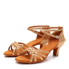 Women's Satin Heels Latin Swing Dance Shoes