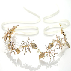 Ladies Shining Alloy Headbands With Venetian Pearl