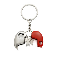 Heart Shaped Zinc Alloy Keychains