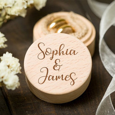 Grace/Round/Personalized Wood Ring Box