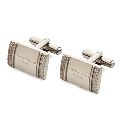 Personalized Classic Style Stainless Steel Cufflinks (Each line does not exceed 20 letters)  (200081046)