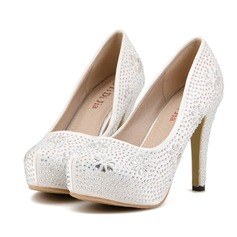 Women's Stiletto Heel Platform Pumps With Rhinestone
