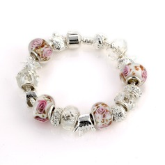 Gorgeous Silver Plated Ceramic Women's Bracelets & Anklets
