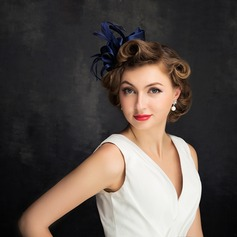 Dames Klassiek Batist/Feather/Tule met Feather/Imitatie Parel Fascinators