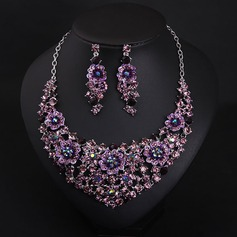 Alloy With Rhinestone Jewelry Sets (Set of 2)