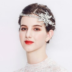 Ladies Handmade Alloy Headbands With Venetian Pearl