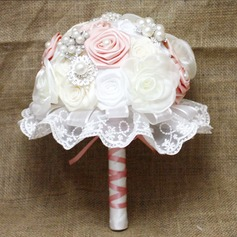 Sweet Round Satin/Tulle Bridal Bouquets -