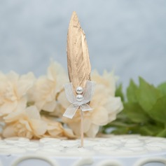 Classic Simulation Feather Cake Topper (Sold in a single piece)