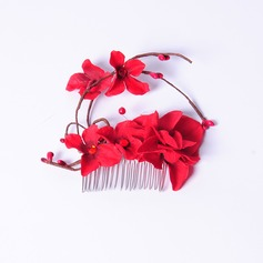 Elegant Silk Flower Combs & Barrettes/Flowers & Feathers