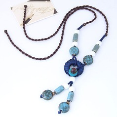 Nice Alloy Ceramic Braided Rope Women's Fashion Necklace (Sold in a single piece)