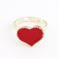 Heart Shaped Alloy Coloured Glaze Ladies' Fashion Rings