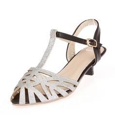De mujer Cuero Tacón bajo Sandalias con Agujereado zapatos
