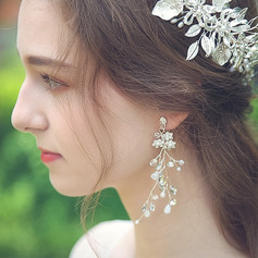 Ladies' Shining Alloy Rhinestone/Imitation Pearls Earrings For Bride/For Bridesmaid/For Mother/For Friends/For Her
