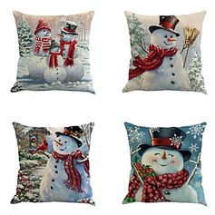 Traditional/Classic Cartoon Polyester Christmas Pillowcases 45*45Cm Cushion Cover