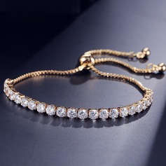 Shining Zircon Copper With Zircon Women's Fashion Bracelets (Sold in a single piece) (137197231)