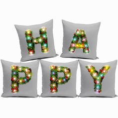 home fashion design flax LED light letter pillow cover christmas gift (Sold in a single piece)