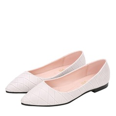 Women's Leatherette Flat Heel Flats Closed Toe shoes (086163199)