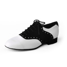 Men's Leatherette Real Leather Heels Modern Ballroom Dance Shoes