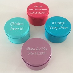 Round Metal Favor Boxes