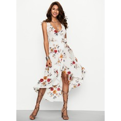 Cotton With Print Asymmetrical Dress (199170071)