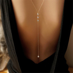 Ladies' Fashionable Alloy/Rhinestones Necklaces For Her