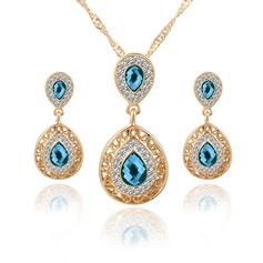 Shining Alloy Crystal Women's Jewelry Sets