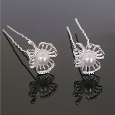 Beautiful Rhinestone/Alloy Hairpins (Set of 3)