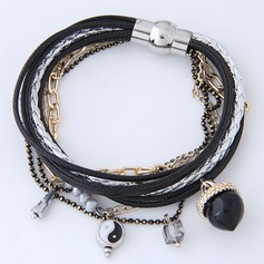 Fashional Alloy Leather Rope Women's Fashion Bracelets (Sold in a single piece)