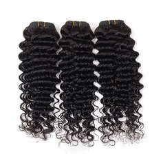 4A Non remy Deep Human Hair Human Hair Weave (Sold in a single piece) 120g