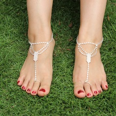 Rhinestone Alloy Foot Jewellery (Sold in a single piece) (107122428)