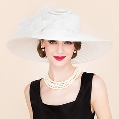 Signore Incredibile Papiro/Tyll Cappello floscio/Kentucky Derby Hats/Cappelli da Tea Party
