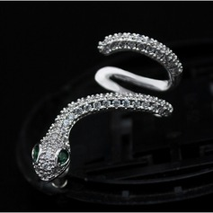 Attractive Copper/Zircon/S925 Sliver Ladies' Earrings