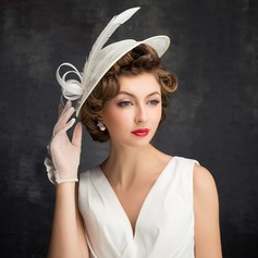 Ladies' Classic Feather/Tulle/Linen With Feather Fascinators (196105127)