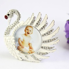Swan Design Zinc Alloy Photo Frames With Rhinestone