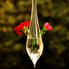 Hanging Water Drop Shaped Glass Vases(Flowers Not Include)