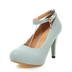 De mujer Cuero Tacón stilettos Salón Plataforma Cerrados con Hebilla zapatos