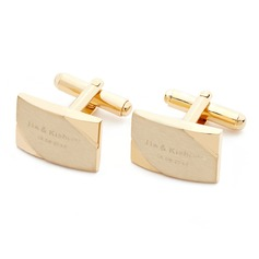 Personalized Simple Hard plastic Cufflinks