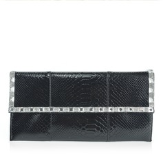 Gorgeous Patent Leather With Rhinestone Clutches