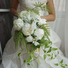 Elegant Cascade Satin Bridal Bouquets (Sold in a single piece) - Bridal Bouquets (123169563)