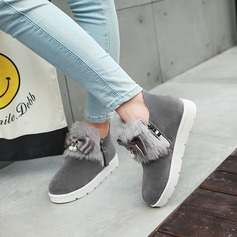 Women's Suede Flat Heel Flats Platform Ankle Boots With Fur shoes