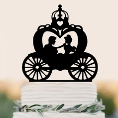 Classic Couple/Happy Anniversary Acrylic Cake Topper (Sold in a single piece)
