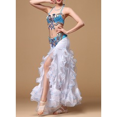 Women's Dancewear Cotton Polyester Chiffon Belly Dance Outfits (115086458)