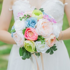 Colorful Free-Form Satin Bridal Bouquets/Bridesmaid Bouquets -