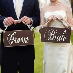 Bride and Groom Wooden Wedding Sign