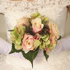 Elegant Round Dried Flower Bridal Bouquets -