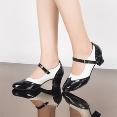 Women's Leatherette Heels Pumps Ballroom Character Shoes Dance Shoes